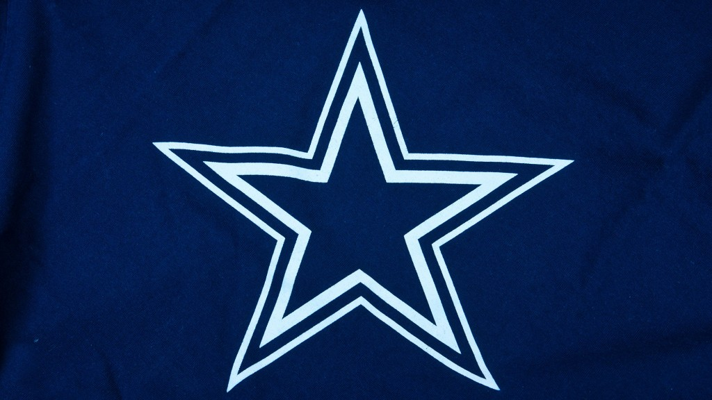 Dallas Cowboys star logo printed on equipment.