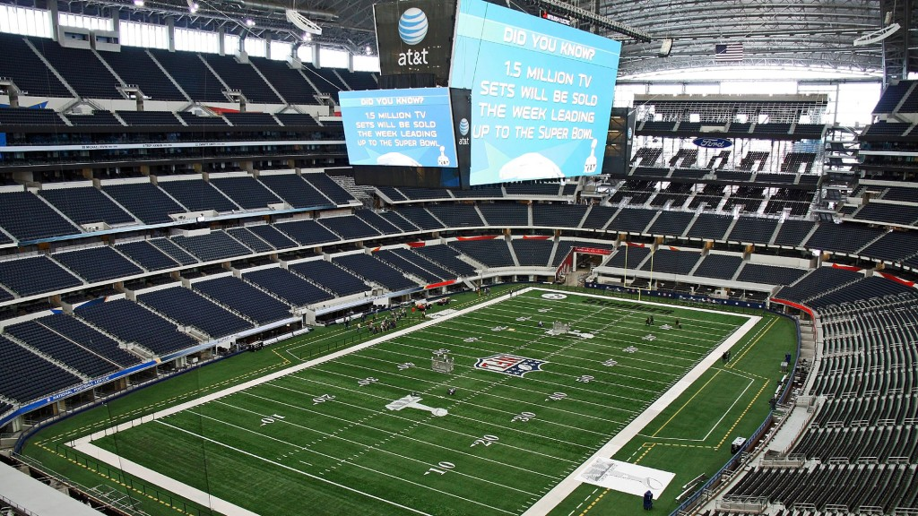 A view of AT&T Stadium from a luxury suite.