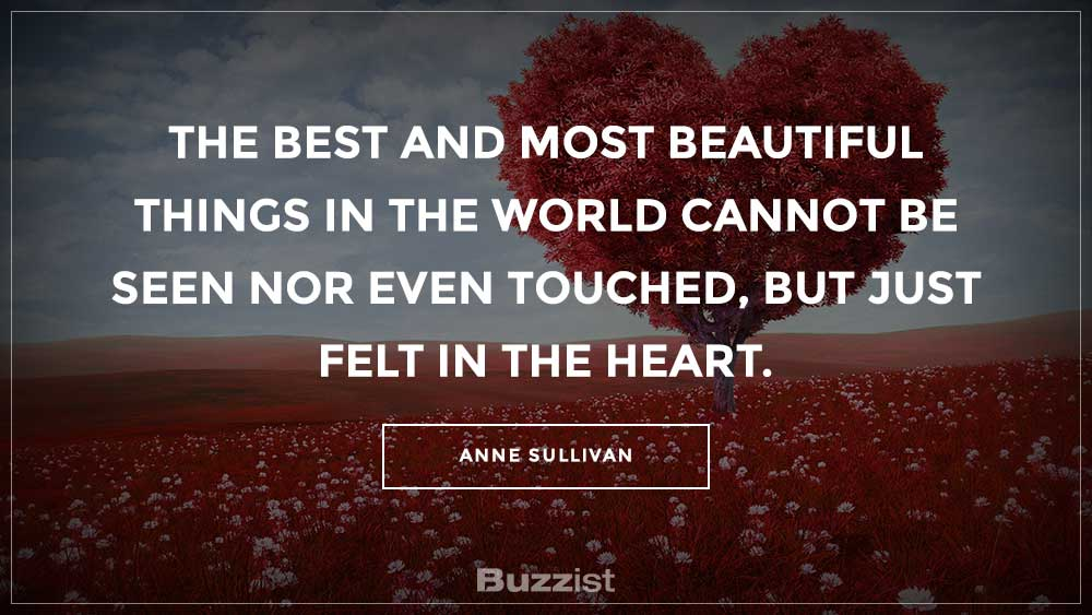 Anne Sullivan quote presented on a picture.