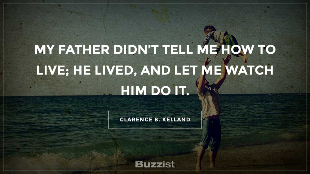 Clarence B. Kelland quote presented on a picture.