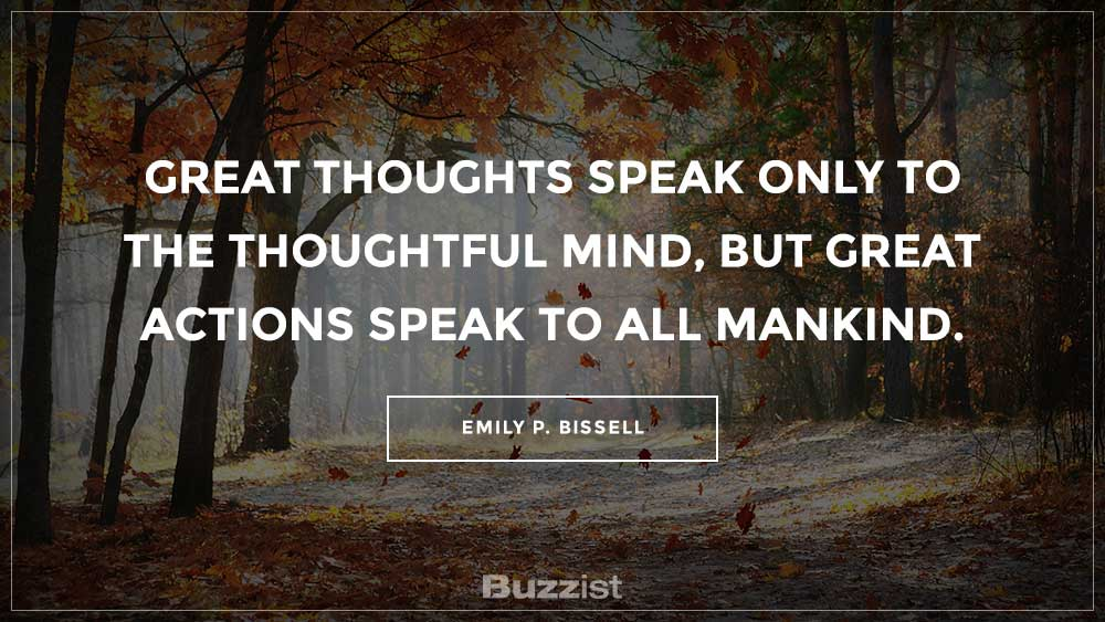 Emily P. Bissell quote presented on a picture.