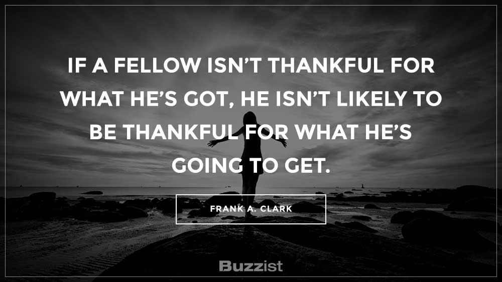 Frank A. Clark quote presented on a picture.