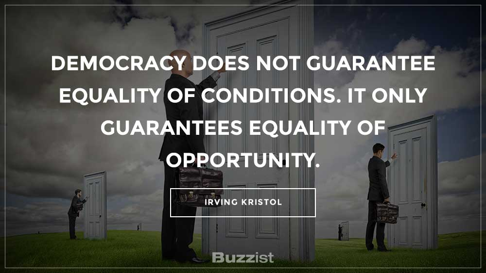 Irving Kristol quote presented on a picture.