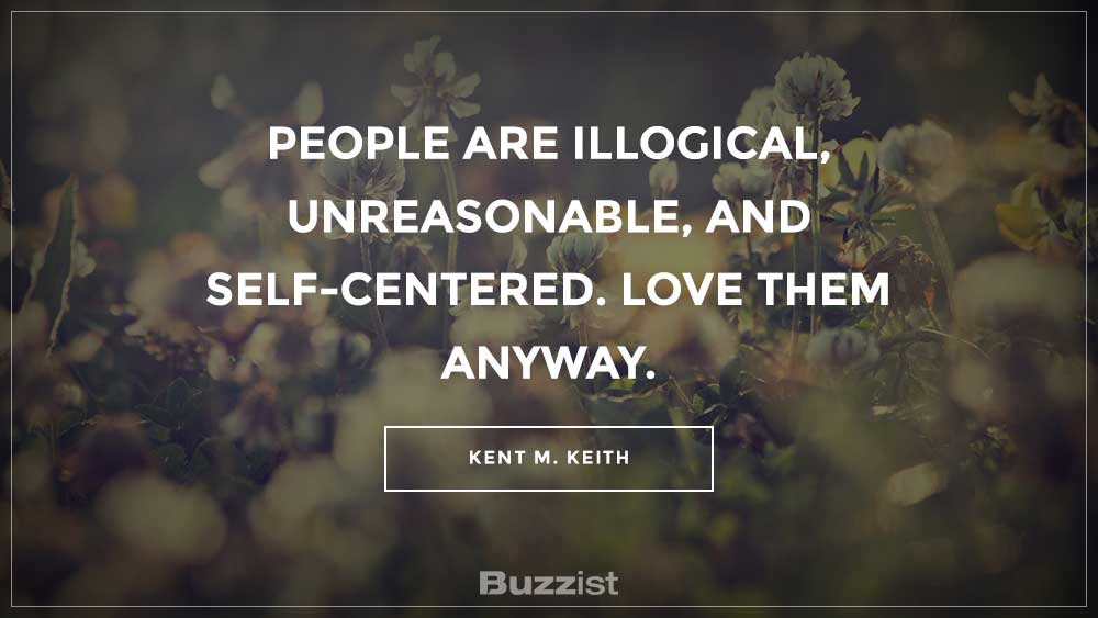 Kent M. Keith quote presented on a picture.