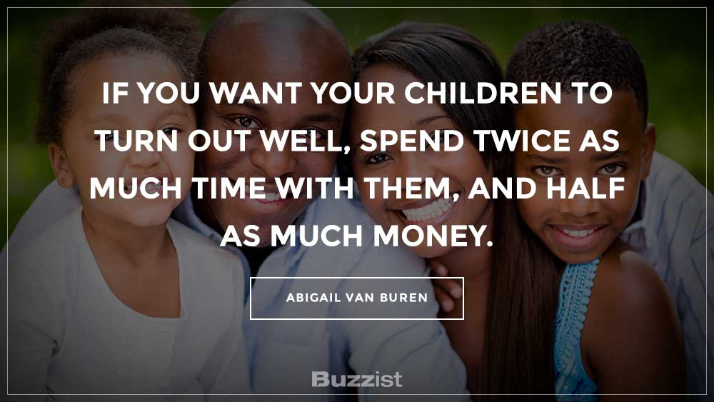 Abigail Van Buren quote presented on a picture.