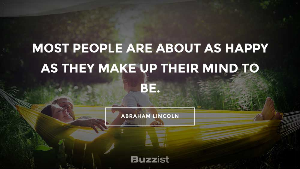 Abraham Lincoln quote presented on a picture.